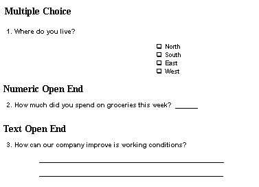 Speed dating example questions for a questionnaire