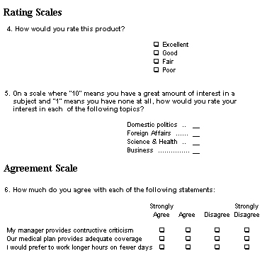 Sample questionnaire in research paper